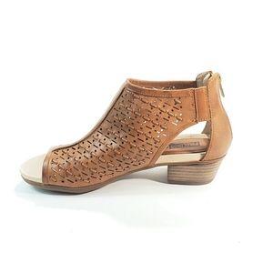 Pikolinos Sandals Open Toe Block Heel Leather